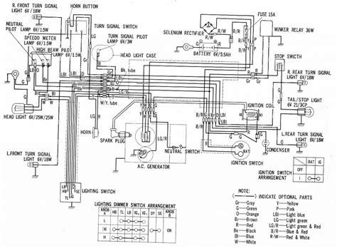 motor ct90 motorcycle honda xrm and cb 125 wiring