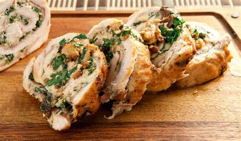 stuffed roasted turkey breast stuffed roast turkey breast recipe dishmaps