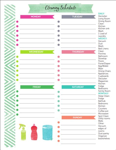 The Best Free Printable Cleaning Checklists Pinterest Binder Management And Cleaning Schedules Printable Cleaning Schedule Template