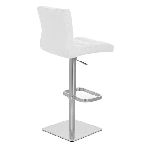 Square Base Bar Stools by Lush Square Base Adjustable Height Swivel Armless Bar