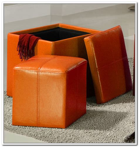 orange ottoman storage orange storage ottoman home design ideas