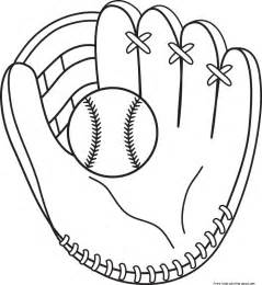 softball color printable baseball bat and glove coloring pages for