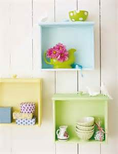 colorful bookshelves colorful diy wall shelves of used drawers shelterness