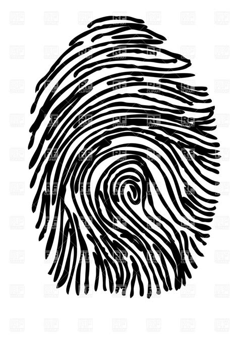 royalty free clipart fingerprint vector image of silhouettes outlines 169 arkela
