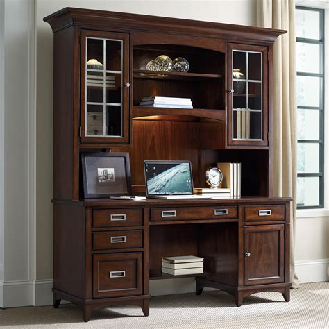 executive desk and hutch set furniture latitude walnut vintage credenza and