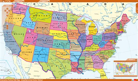 usa on world map interactive map of the us states world maps