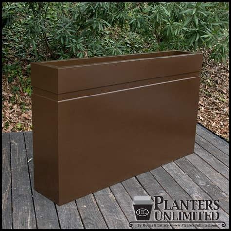 arroyo square planter box commercial fiberglass outdoor