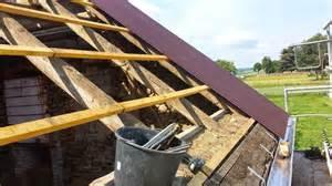 garagendach decken braunes trapezblech colditz style dach fischer