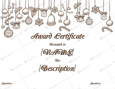 xmas award certificate ideas themed award certificate templates in word pdf