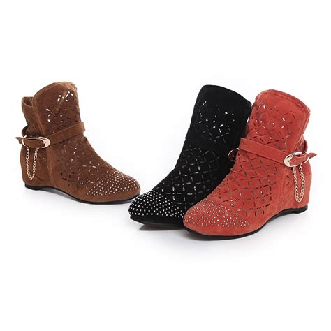 new style boots for new style shoes fashion nubuck leather fretwork