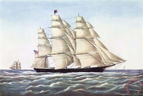 flying cloud boat others the clipper ship flying cloud painting the