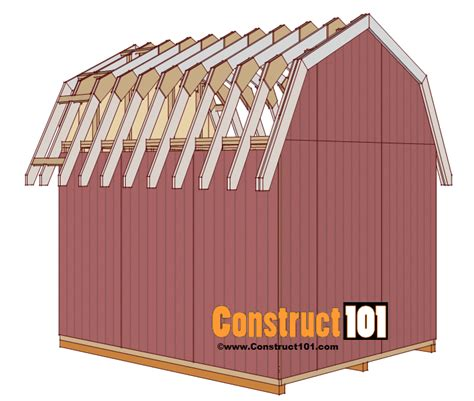 Gambrel Roof Shed Plans 10×12