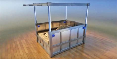 earthquake bed vault 101 freaky earthquake proof bed locks you inside