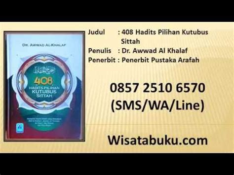 408 Hadits Pilihan Kutubus Sittah 408 hadits pilihan kutubus sittah dr awwad al khalaf
