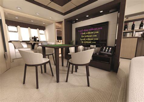 room design for yacht interior design azimut 70 mahjong room 棋牌室 桌球室 interiors room