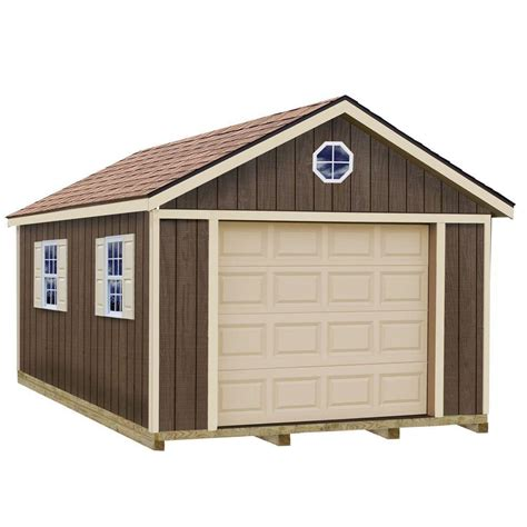 home depot garage plans best barns sierra 12 ft x 24 ft wood garage kit with