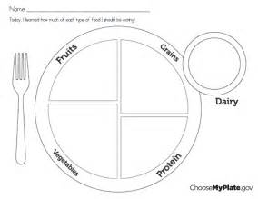 blank phlet template 6 best images of myplate printable sheet protein myplate