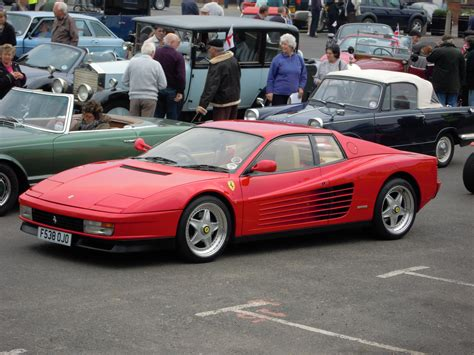 Size Of 3 Car Garage by File A Ferrari Testarossa Classic Car Rally Sheringham