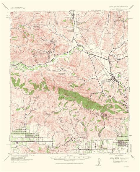 california quadrangle map historical topographical maps santa susana quadrangle