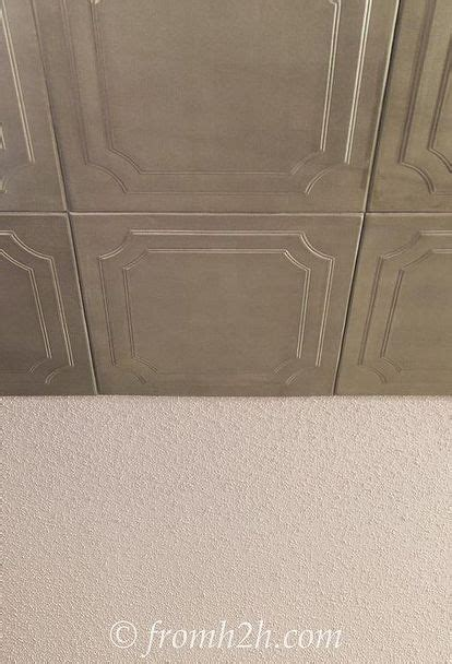 cover popcorn ceiling with tiles 1000 ideas about cover popcorn ceiling on
