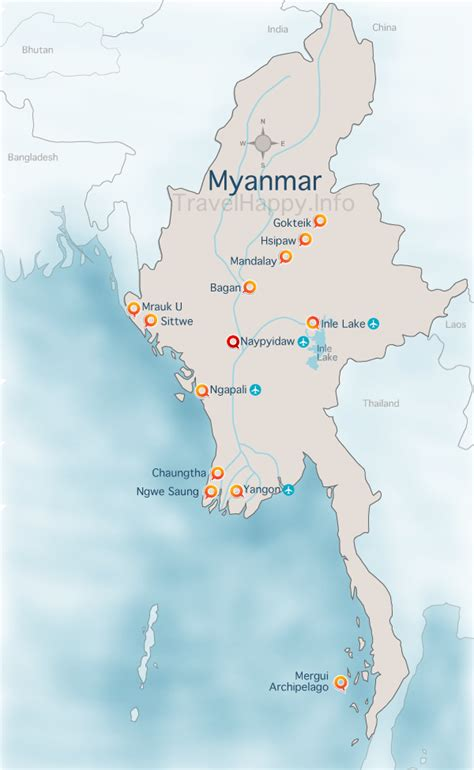 where is myanmar on the map myanmar map