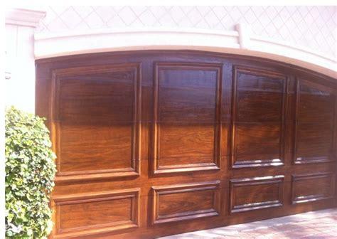 faux wood finish on garage doors house garage