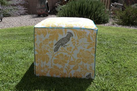 how to recover an ottoman without sewing recover a cube ottoman 171 best fabric store blog
