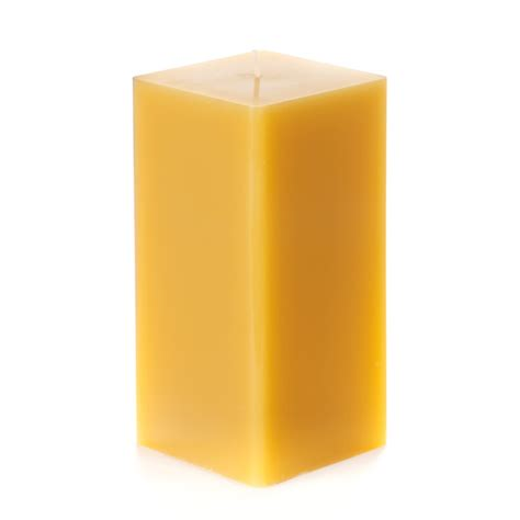 Square Candles 3x3x6 Yellow Square Pillar Candle