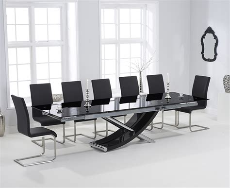 Black Glass Extending Dining Table Harris Hanover 210cm Black Glass Extending Dining Table Harris Furniture
