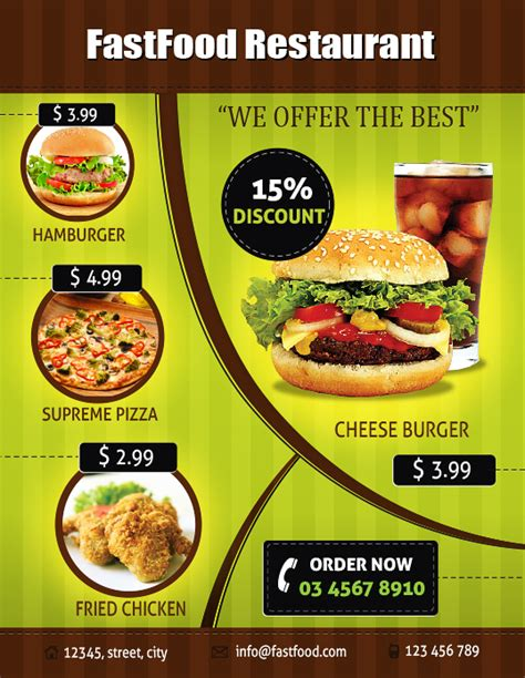 design flyer for restaurant menu flyer design telemontekg me
