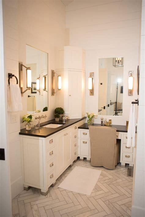 blooming single bathroom vanity  makeup area