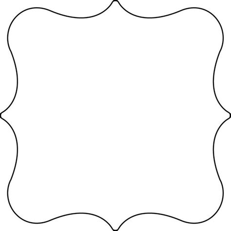 fancy card shape template 11 best images of sign shapes templates printable free