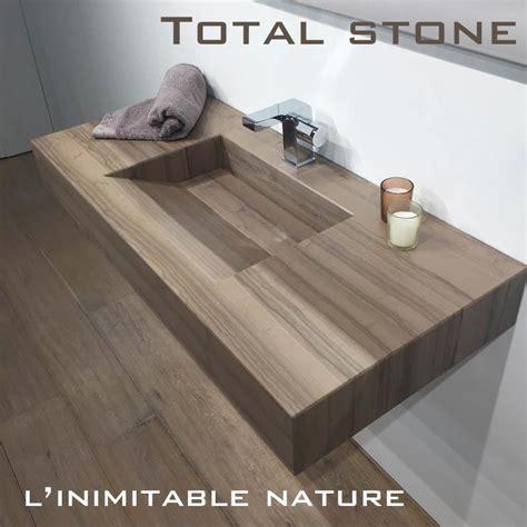 plan vasque salle de bain suspendu 101x46 cm stonewood