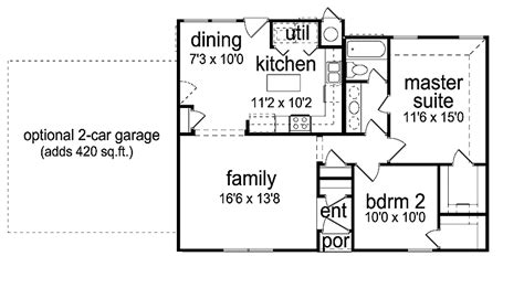 2 bed bungalow floor plans two bedrooms house plan 2 bedroom bungalow plans not so