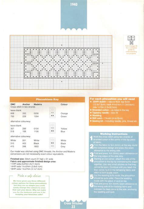 cuscini punto croce schemi cuscino puntaspilli schema punto croce 2 magiedifilo