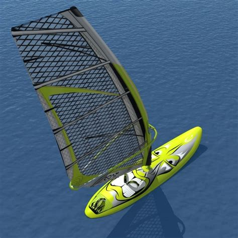 Kaos Surfing High Quality c4d windsurf modelled