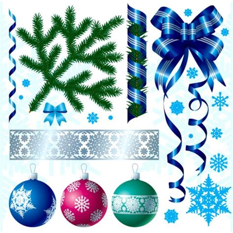new year decoration names a variety of decorations vector material free
