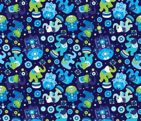 fabric elephant pattern free blue boy elephant and hand of fatima pattern fabric