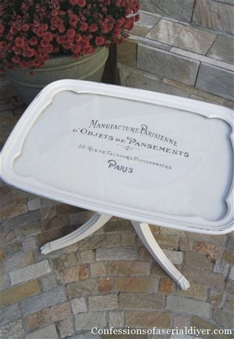 chalk paint glass table glass tray top table goes to confessions of a