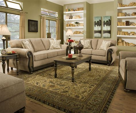 Living Room Sets Wi Theory Dunes Traditional Beige Living Room Furniture Set W