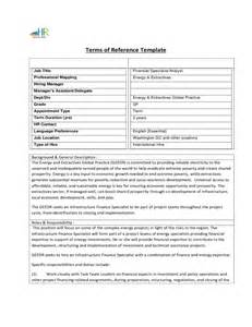 Terms of Reference Template Free Download