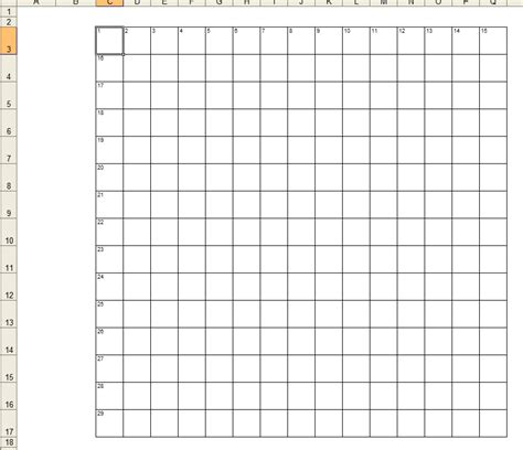 Crossword Puzzle Template Printable by Crossword Template Daily Dose Of Excel