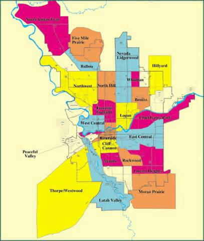 Neighborhoods In Map Neighborhoods Of Spokane