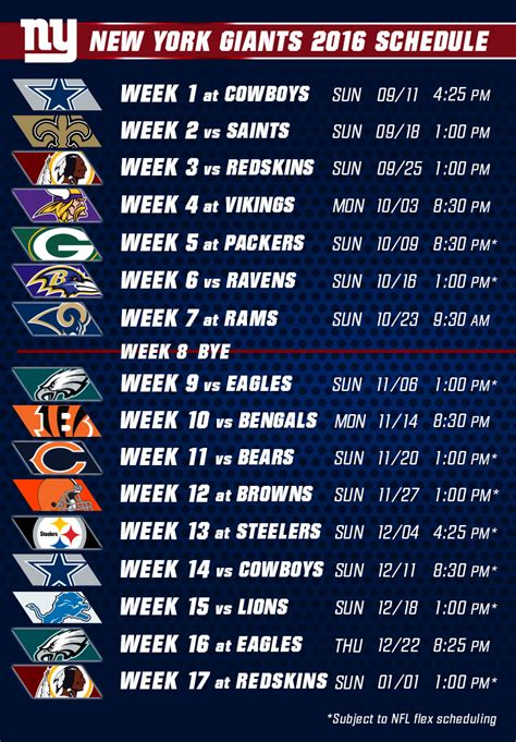 printable nfl giants schedule search results for nfl schedule 2015 2016 season