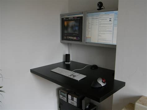Wall Hanging Computer Desk Modern Floating Desk Look Clean And Simple