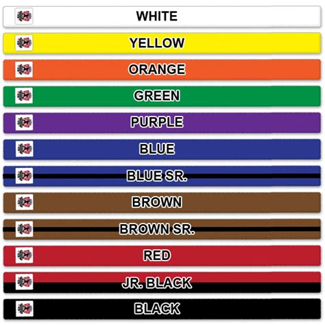 taekwondo belt colors tae kwon do belt system
