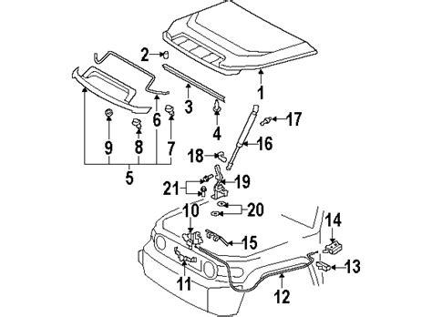 Toyota Fj Cruiser Parts Diagram parts 174 toyota fj cruiser oem parts diagram