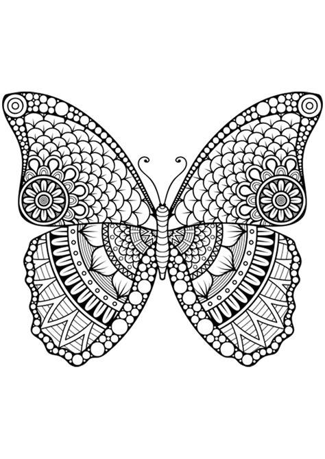 imagenes tipo mandalas dibujo para colorear mandala forma mariposa