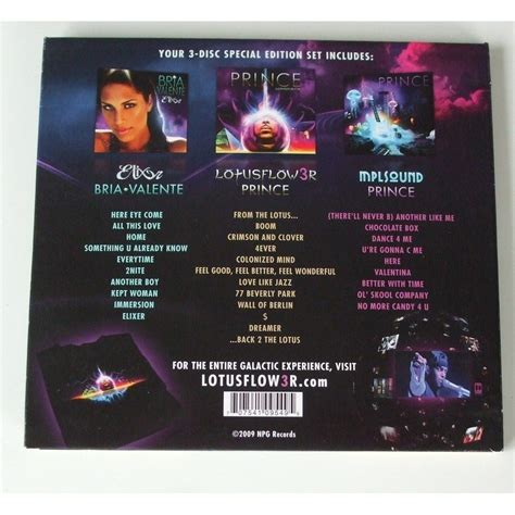 prince lotus lotusflow3r by prince cd box with dom88 ref 118258437