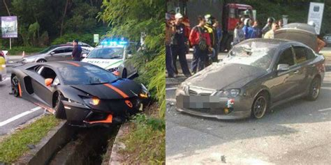 Lamborghini Crashes Update Shahalam Photos Of Car Crash Involving
